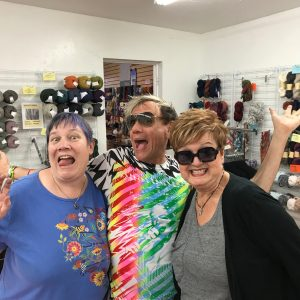 StevenBe with Holly and Pam at Birdhouse Yarns