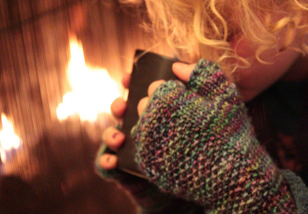 Casapinka Sugar and Ice fingerless mitts