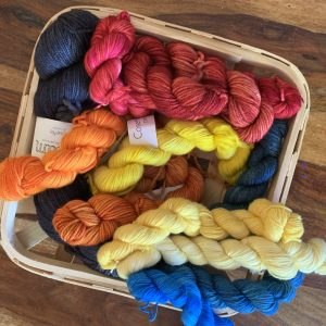 basket of mini skeins