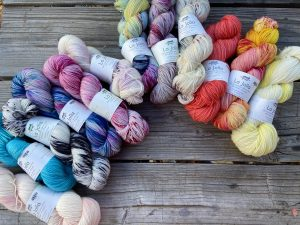 Baah yarns on wooden planks