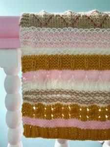 blanket hanging over rail