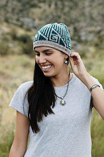 Jennifer Berg wears her Peaceful People Hat design